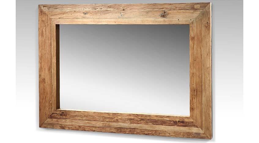 Großer Teak Spiegel