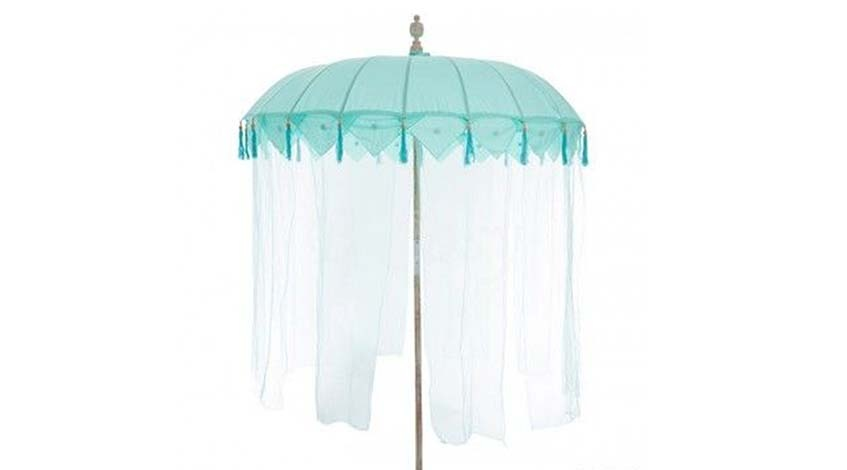 Sonnenschirm mit Tüllbändern  Ø 180 cm