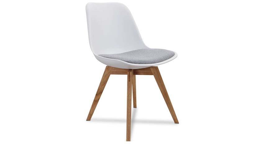 Stuhl Grace weiß/grau