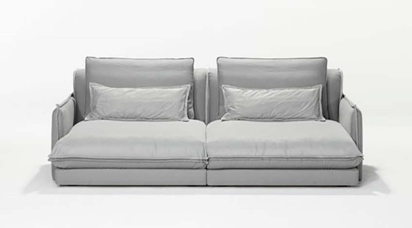 Sofakombination Grau