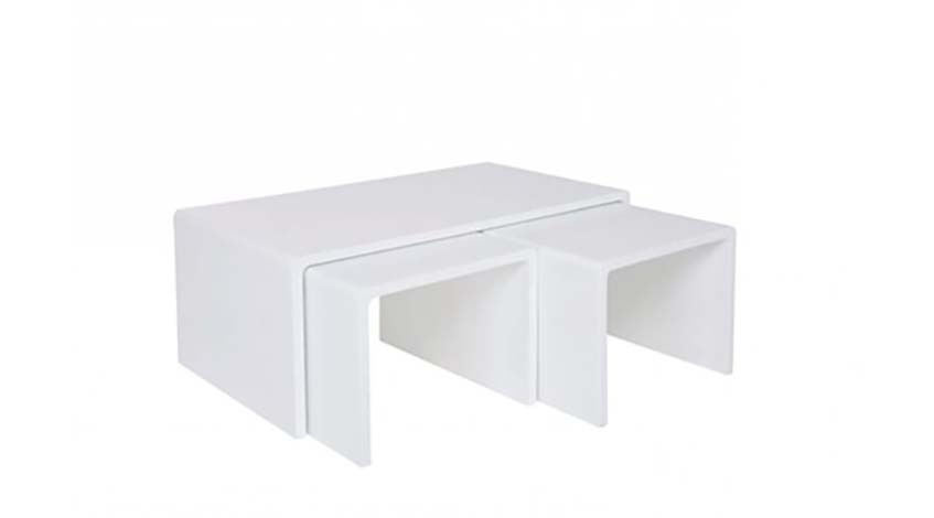Coutisch Shiny white 3er Set